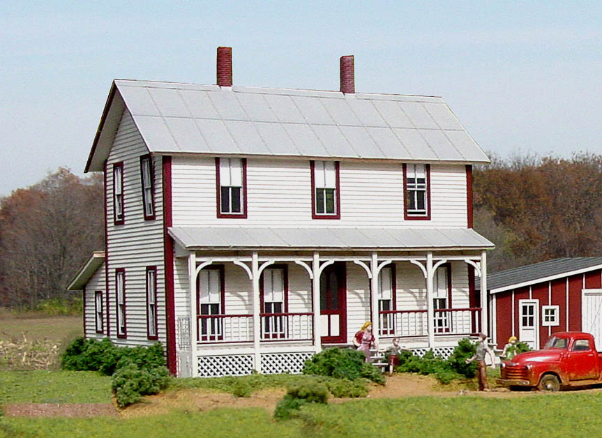 american model builders ho scale two story farm house 152