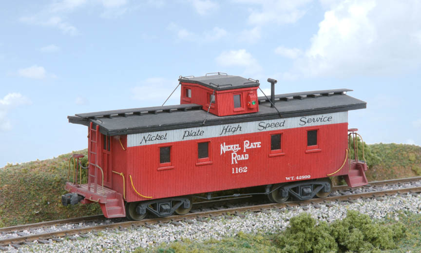 American Model Builders #880 Great Northern 30/' Tongue /& Groove Wood Caboose