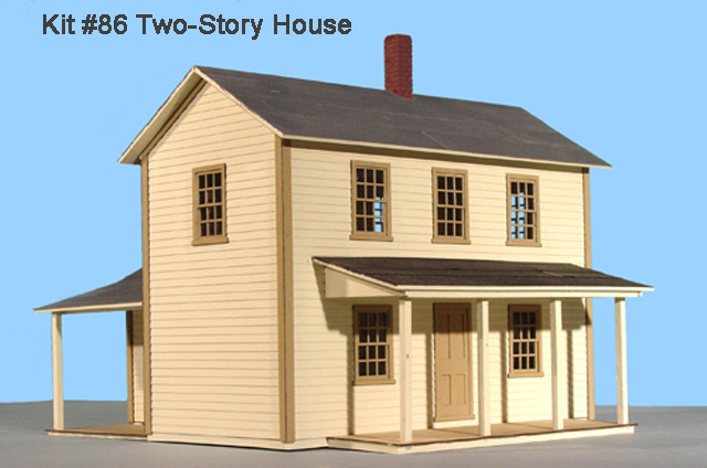 S scale structure kits for 2 story home kits