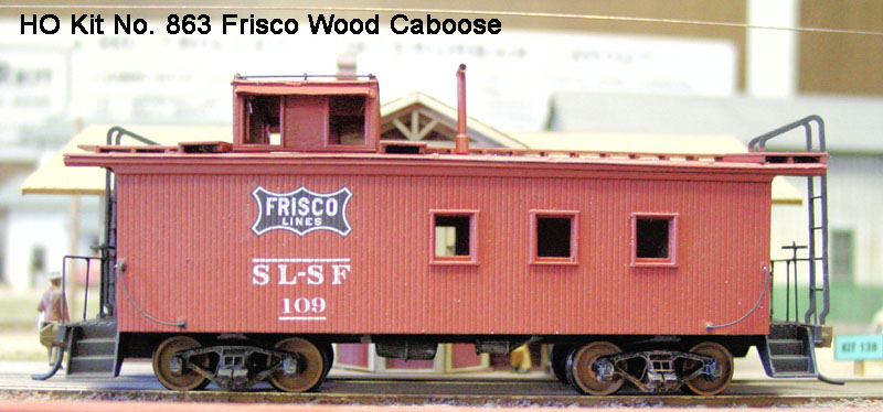 American Model Builders HO #863 St Louis-San Francisco Railway Wood Caboose Kit