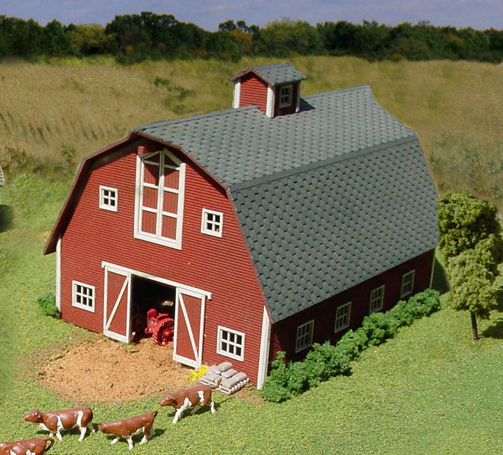 S scale structure kits for Gambrel roof barn kits